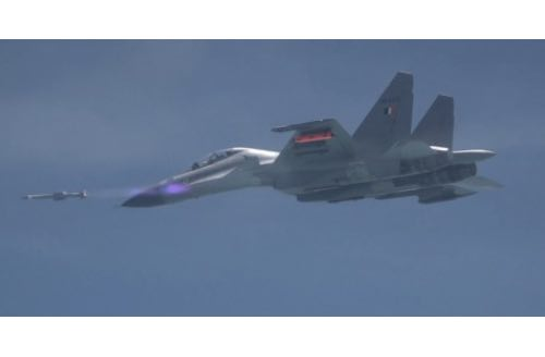 Air-to-Air Missile Astra Successfully Flight Tested from Su-30 MKI