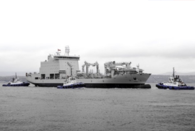All Systems Go: Like Clockwork, the Resolve-Class Naval Support Ship is Launched