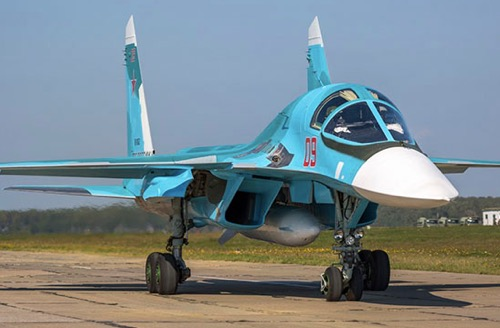 Central MD Mixed Air Regiment Gets Three New Su-34 Fighter Jets