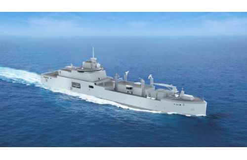 Construction of the First New Replenishment Vessel for the French Navy Begins at Chantiers de l'Atlantique Shipyard