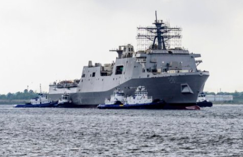 Future USS Fort Lauderdale Amphibious Transport Dock Ship Launched