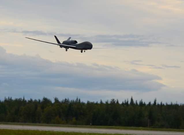 Global Hawk Makes Historic First Landing at Red Flag-Alaska