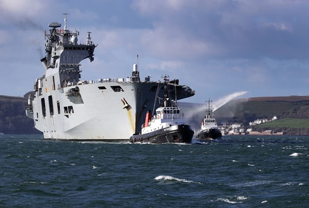 HMS Ocean Enters Plymouth for Last Time Under the White Ensign