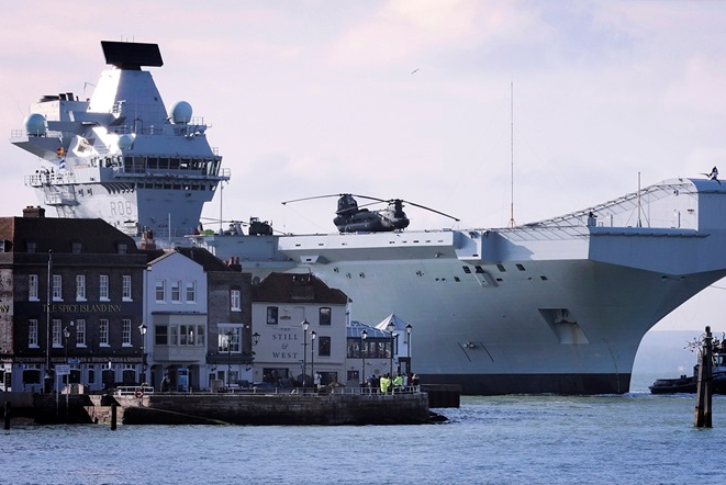 HMS Queen Elizabeth Arrives Home After Helicopter Trials Success