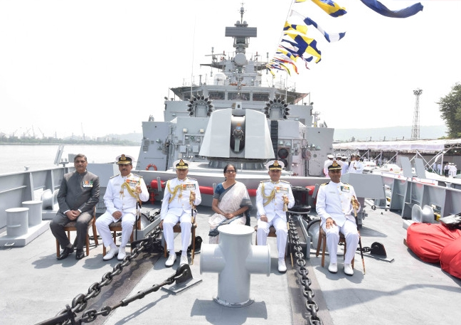 Hon'ble Raksha Mantri Smt. Nirmala Sitharaman Commissions INS Kiltan ASW Stealth Corvette