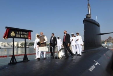 INS Kalvari, First Indian-made SCORPENE-class Submarine, Commissioned