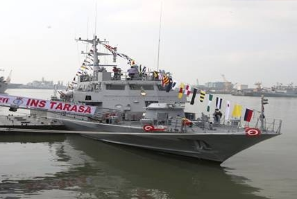Indian Navy Commissions Water-Jet Fast Attack Craft at Mumbai