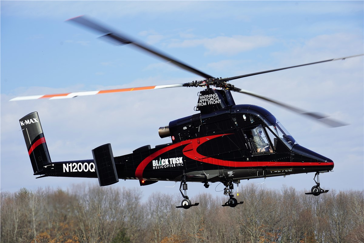 Kaman Delivers New K-MAX to Black Tusk Helicopter Inc