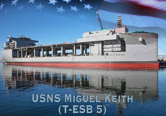 Keel Laid for Future USNS Miguel Keith