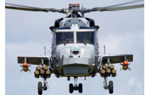 Leonardo AW159 Wildcat Helicopter Conducts First Successful Firings of Thales 'Martlet' Lightweight Multirole Missile (LMM)