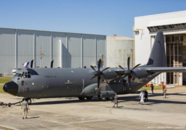 Lockheed Martin Rolls Out First France's C-130J-30 Aircraft Out of Paint Shop
