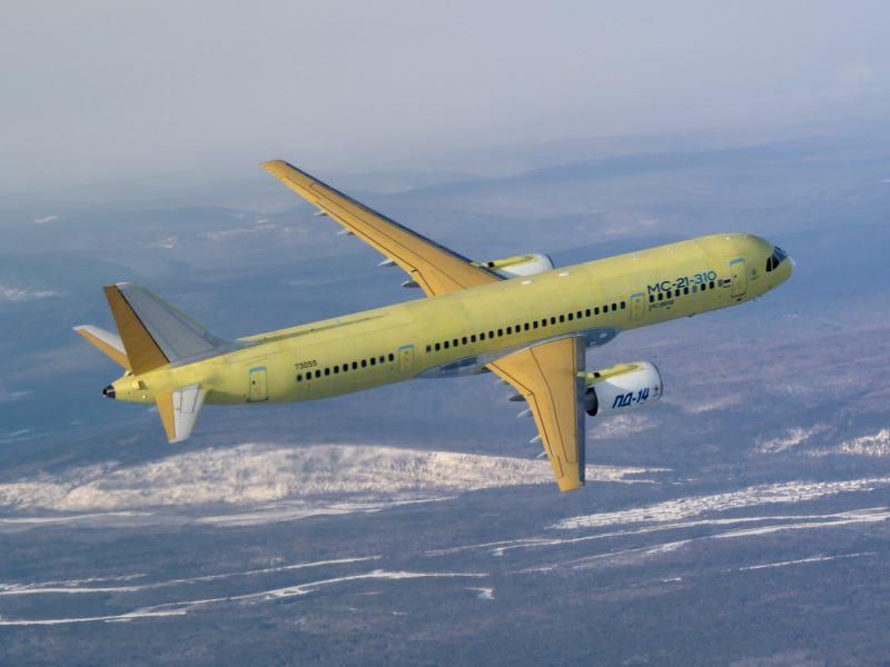 MC-21-310 Aircraft with Russian PD-14 Engines Made Its Maiden Flight