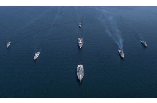 NATO Navies and Air Forces Exercise in the Baltic Sea