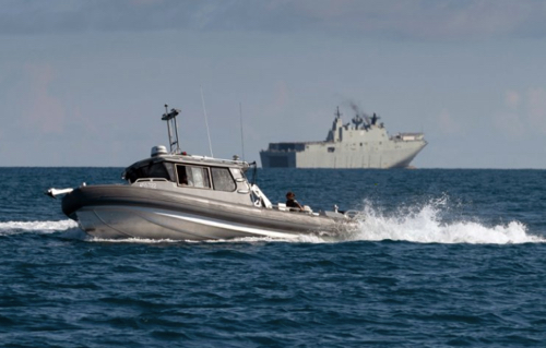 New Survey Vessel Successfully Launched from HMAS Adelaide