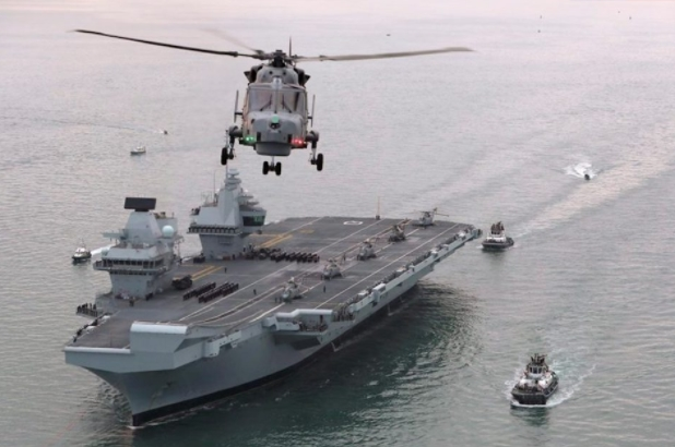 Queen to Commission Namesake Aircraft Carrier in Just Three Weeks, Defence Secretary Announces on Flight-Deck