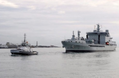 Royal Fleet Auxiliary Welcomes RFA Tidespring to the Fleet
