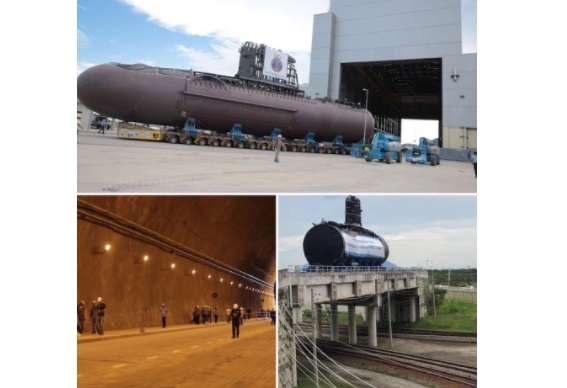 """Sections of the Submarine """"Riachuelo"""" Moved to Assembly Hall"""
