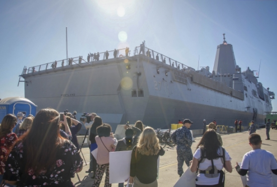 The Future USS Portland Arrives in San Diego