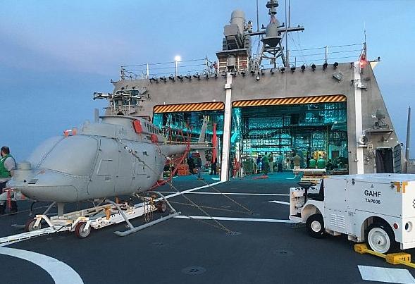USS Coronado Underway for MQ-8C Fire Scout Testing