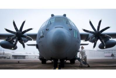 Upgraded C-130 Arrives for Testing