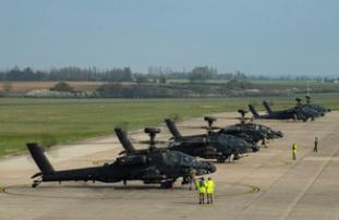 Apaches Take Off for Estonia