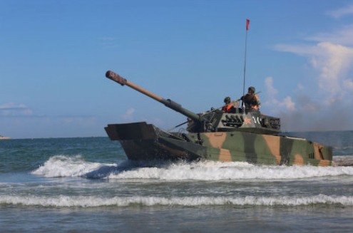 China Conducts Maritime Exercise with Advanced Amphibious Assault Vehicles