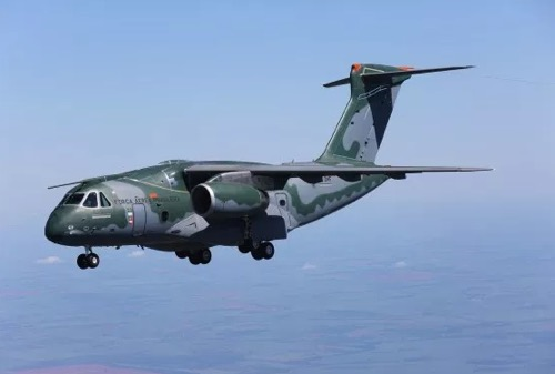 Embraer Takes to the Paris Air Show the Multi-Mission Airlift KC-390 Which Will Be Delivered to the Brazilian Air Force Soon