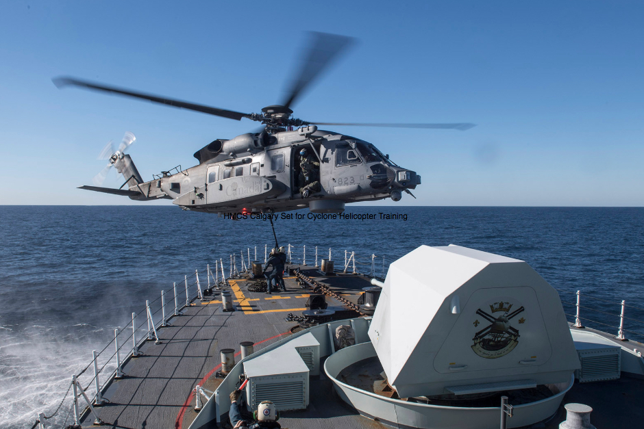 HMCS Calgary Set for Cyclone Helicopter Training