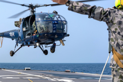 Helos Hop from Deck to Deck to Prove Combined Air Capabilities at Sea