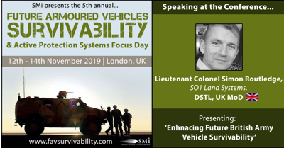 DSTL, UK MoD to discuss British Army Signature Management at SMI's Future Armoured Vehicles Survivability 2019