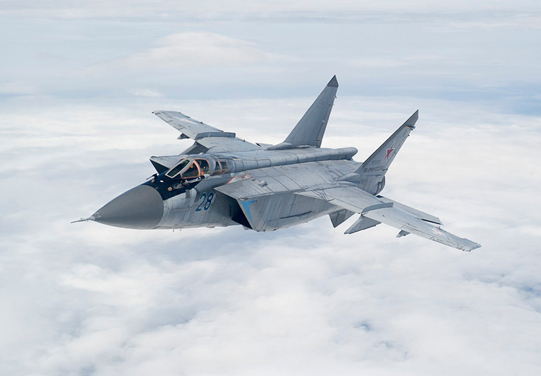 Three Modernized MiG-31BM Fighter Interceptors Join Air Regiment of the Central MD in Prikamye